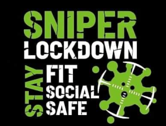 Sniper Lockdown Stay Fit, Social and Safe